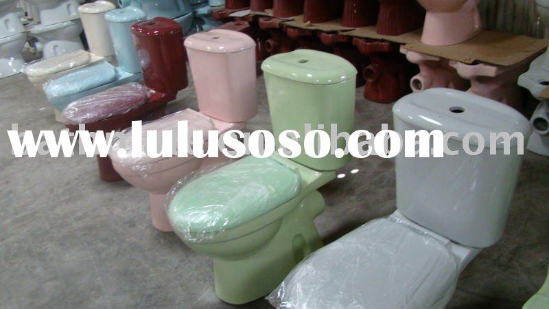 BY-809 washdown two piece color toilet