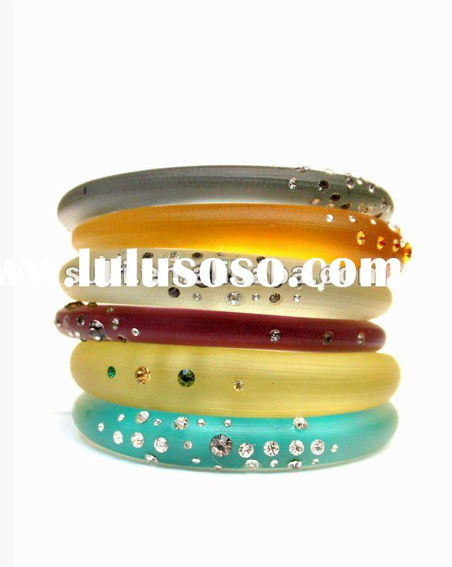 Bangles, Lucite Bangles, Top Fashion Colorful Tapered Bangles