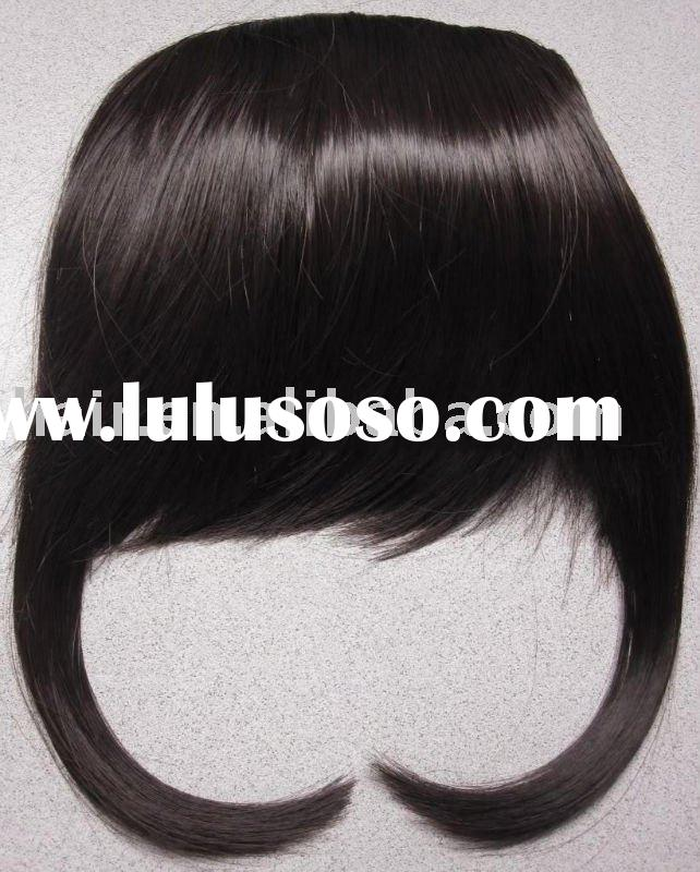 Bangs Hair Extension/Synthetic Hair Pieces/Clip Hair Piece/Hair Bangs/Fringe hair/Cheap Clip Hair Ex