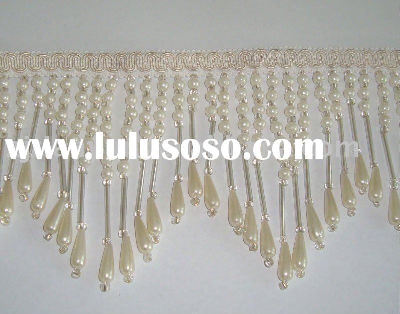 Beaded bullion Tassel Fringe for curtain