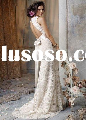 Best Selling Jim Hjelm JH8011 V-neck Lace A-line Chapel Train Bridal Gown Wedding Dresses