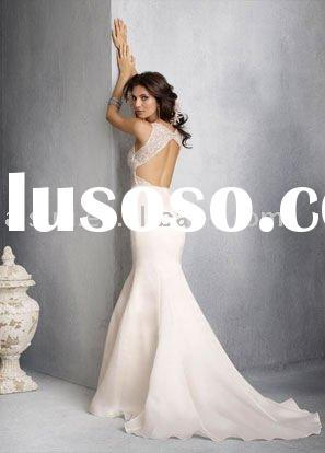 Best Selling Jim Hjelm JH8804 V-neckline Organza A-line Chapel Train Bridal Gown Wedding Dresses