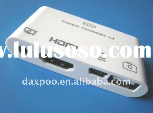 Best price!! Multifunction HDMI Adapter & SD Card Reader For Apple iPad 1, iPad 2, iPhone 4, 4S