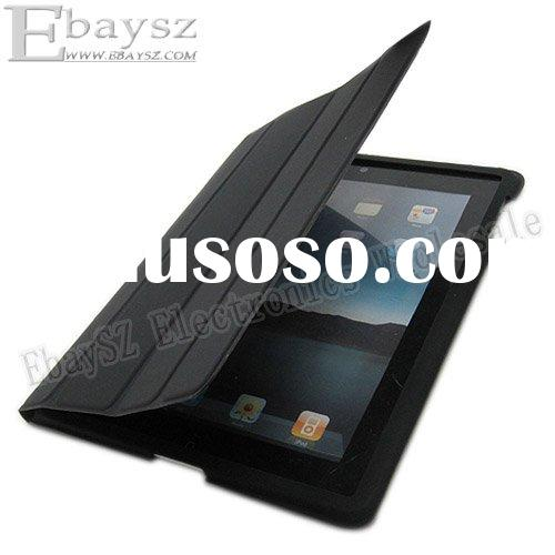 Black Smart Leather Slim Case Cover For Apple IPAD 2,Smart case for ipad2