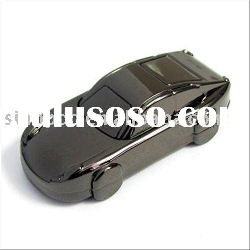 Black metal sports car usb flash drive