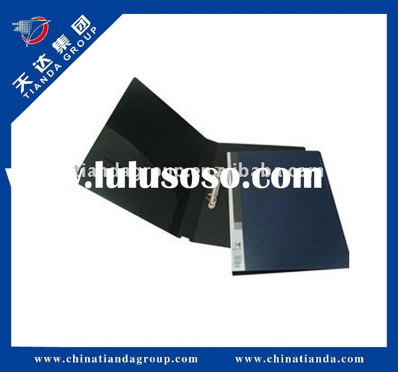 Black ring binding office paper file