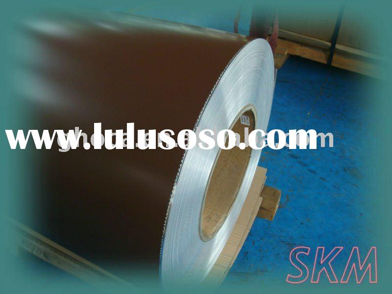 Brown color coated painted aluminum sheet