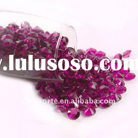 Burgundy Acrylic Diamond Wedding Table Crystals for Party Decoration