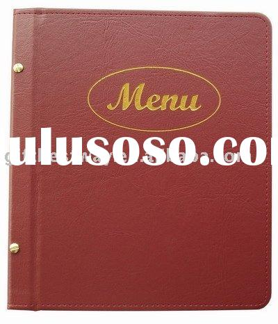Burgundy Restaurant menu cover /menu holder