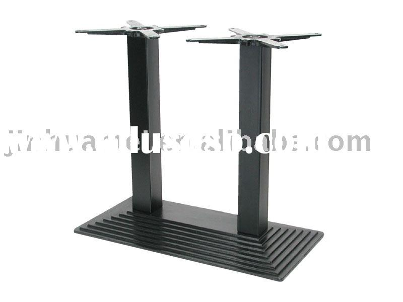 CAST IRON TABLE BASE - DOUBLE TUBE STEP DESIGN