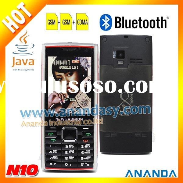 CDMA/GSM 3 Sim Card Java Quadband Mobile Phone N10