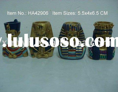 Candle holder ( Egyptian Antiques, Polyresin crafts, home decoration)