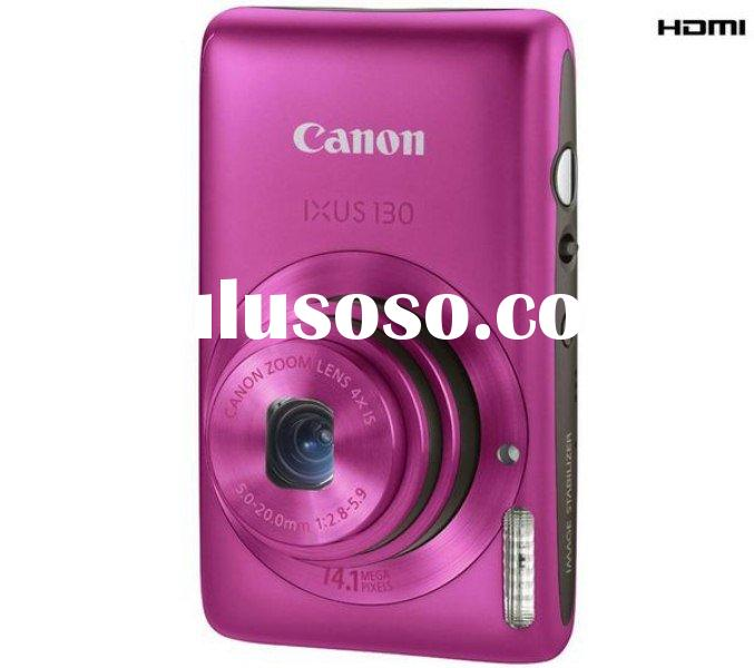 Canon Digital IXUS 130 IS (Pink) Digital Camera