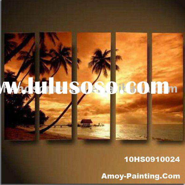 Canvas Palm Tree Oil Painting,10HS0910024