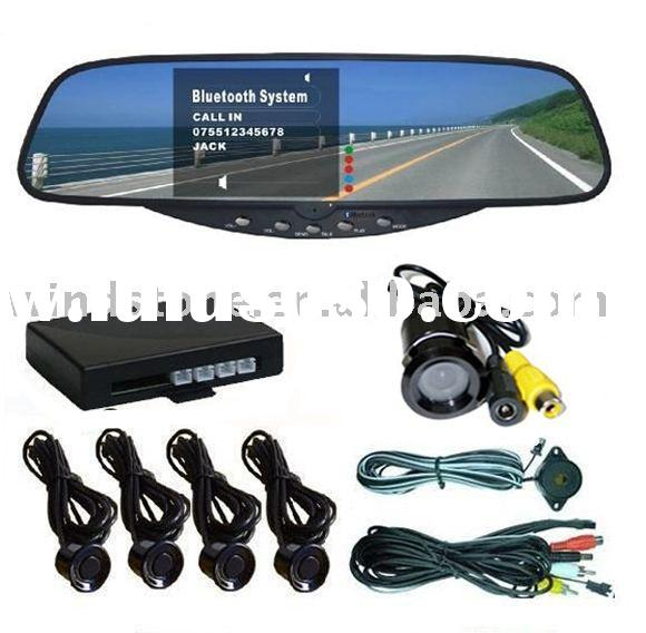 Car Bluetooth Rear View Mirror With Camera