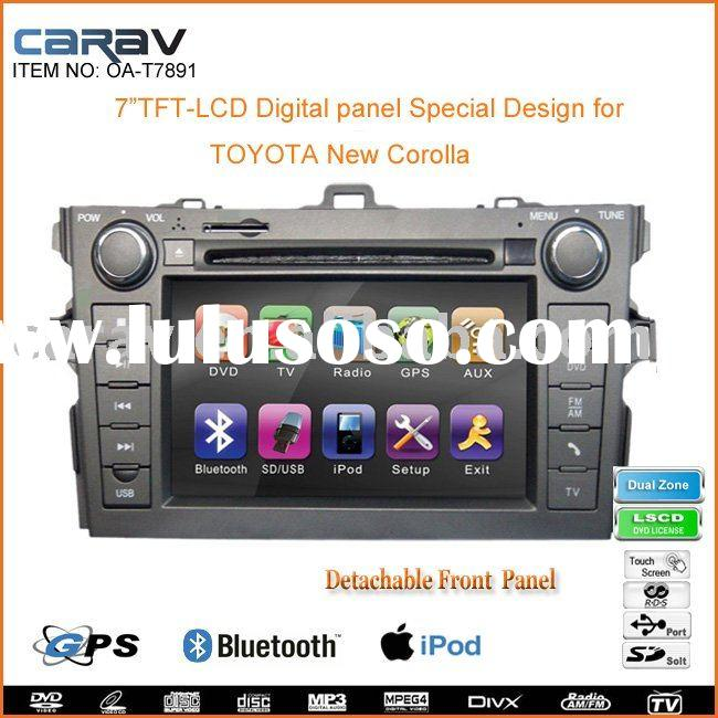 "Car DVD-7"" Double Din car DVD Player Special Design for TOYOTA new Corolla"