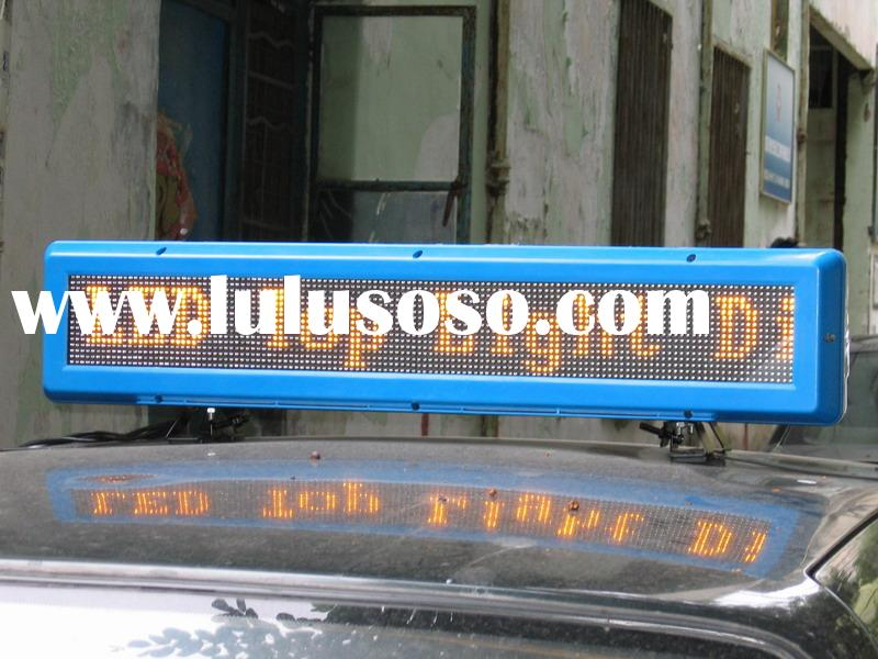 Car top Sign, Vehicle LED Display for advertising, Wireless Advertising Sign for Taxi