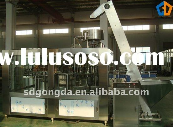 Carbonated Juice Glass Bottle Washing, Filling and Sealing 3-1 Unit Machine