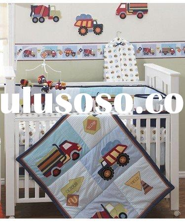 Cartoon design Infant Crib bedding set/ Baby bedding
