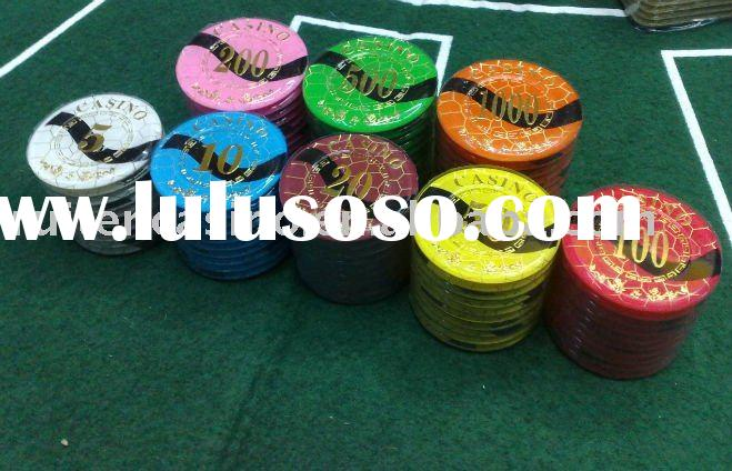 Casino style crystal chip,poker chip,casino chip,gambling chip