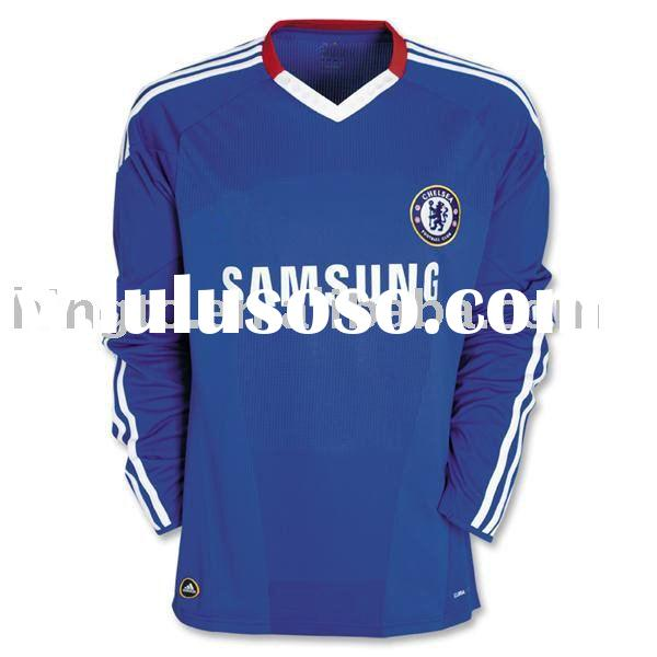 Chelsea 09/10 Long Sleeve Home Soccer Jersey