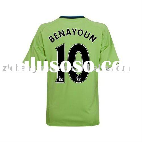 Chelsea 10/11 Away Men's Soccer Jersey Green Color With Hotsale
