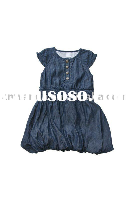 Children Wear 100% Cotton soft Jeans Girl's Dress