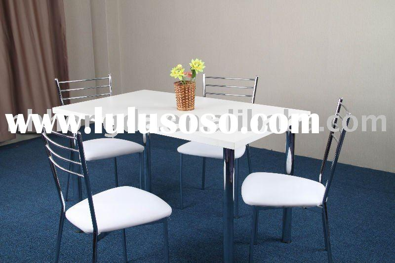 Chrome Dining set-dining table and chairs