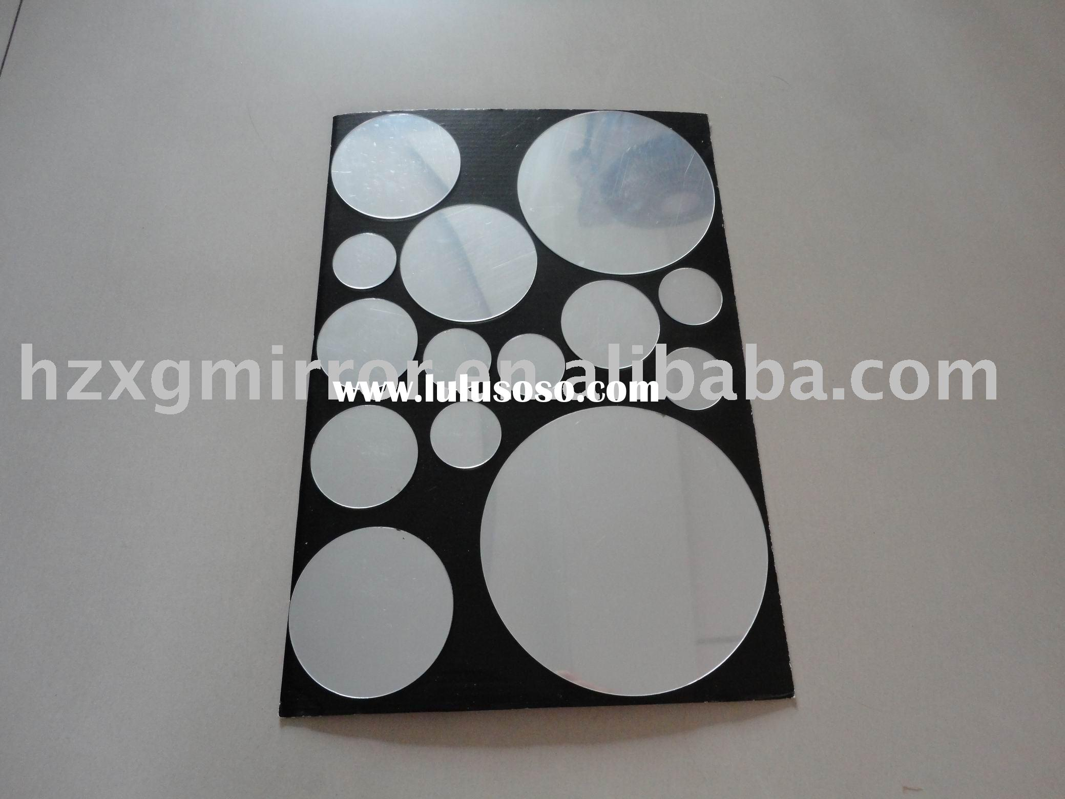 Circle peel and stick mirror