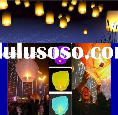 Colorful Custom Fire Sky Lanterns for Birthday Wedding party of 50PCS KONGMING
