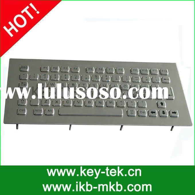 Compact Format IP65 Metal computer keyboard with function keys