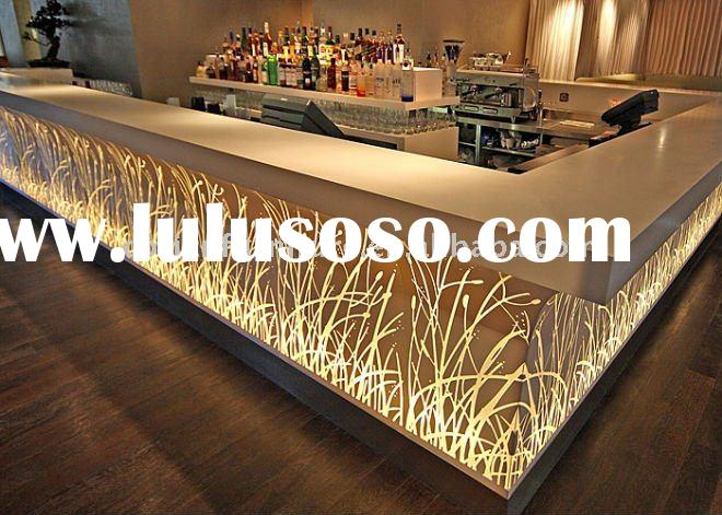Corian lighted design hotel bar counter rcd 002
