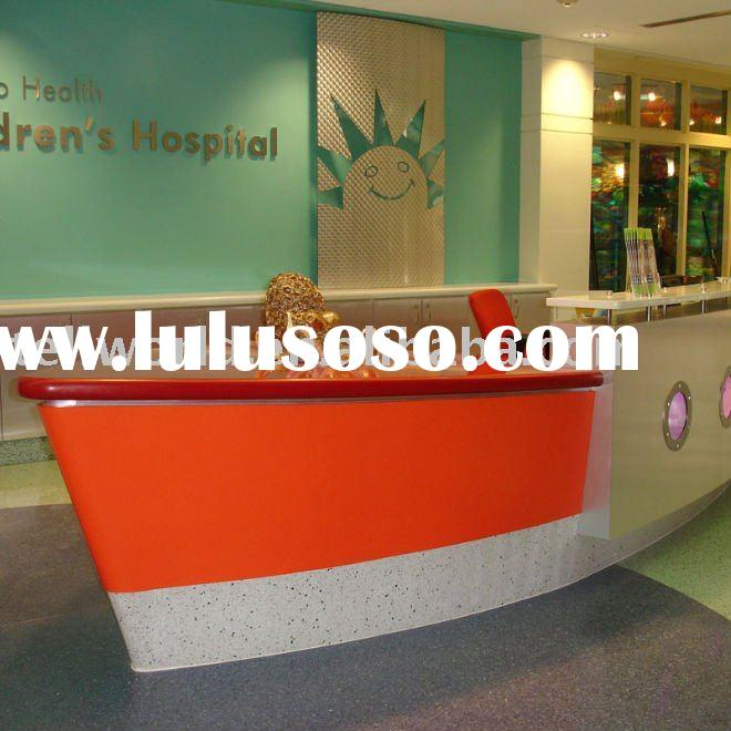 Corian solid surface reception desk