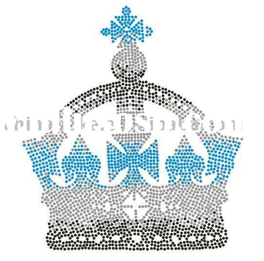 Crown design heat transfer ,Iron on transfer,Iron on motif design,