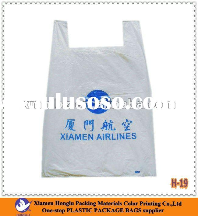 Custom Plastic T-Shirt Bag(H-19)