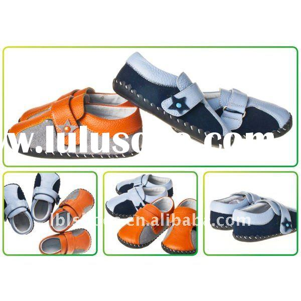 Cute leather baby shoes for boys