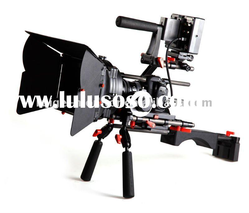 DSLR camera rig / kit with HD LCD monitor for 5D mark II film/video making