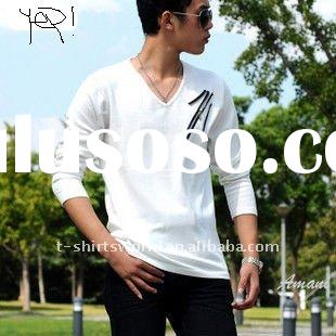Design Your Own Cheap Men's V-neck T-shirts