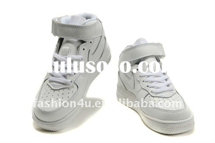 Designer name brand white sports kids shoes