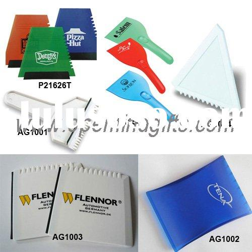 Different types of ice scraper as promotional gifts or giveaways