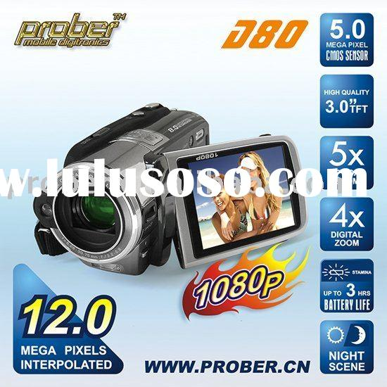 Digital Video Camera with 1080p and HDMI output,12 MP