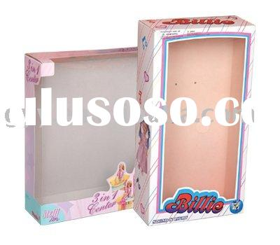 Doll packaging box with pvc window