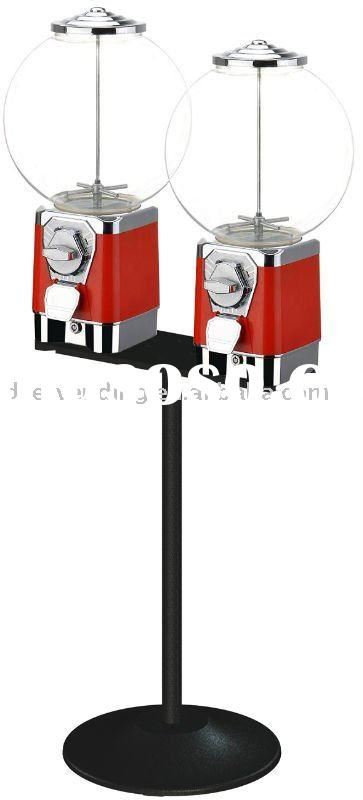 Double Head Gum Ball Vending Machine With Stand
