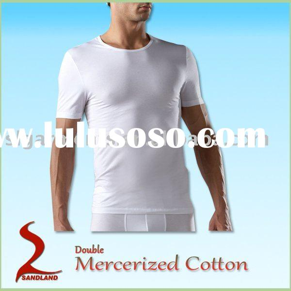 Double Mercerized cotton mens underwear T shirts set