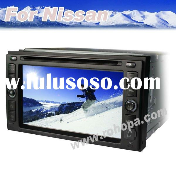 Double din Auto Nissan qashqai radio dvd player TV with GPS navigation system bluetooth for X-TRAIL