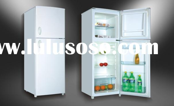 Double door refrigerator with freezer
