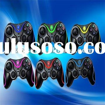 Double shock & wireless video game controller for PC