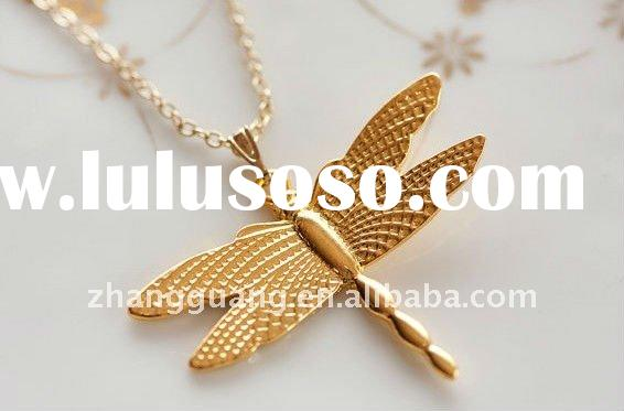 Dragonfly Necklace Gold Dragonfly Pendant Insect Jewelry