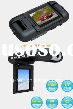 Dual Camera Car DVR with GPS and G-Sensor