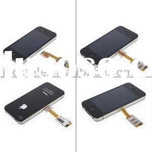 Dual SIM Card Adapter With Back Case for iPhone 4